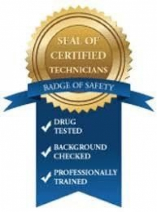 A technician badge of safety