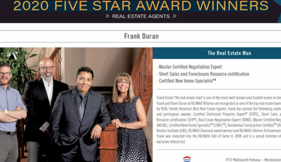 10 year consecutive winner of the Five Star Award!